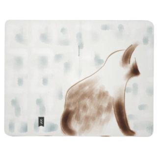 Impressionist Siamese Kitty In Window Journal