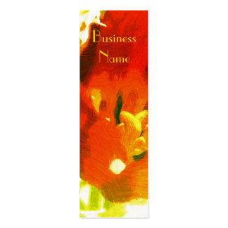 Impressionist Spring Tulip Bookmark Business Cards