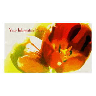 Impressionist Spring Tulips Business Cards