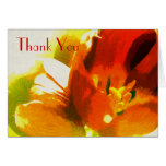 Impressionist Spring Tulips Thank You Note Card