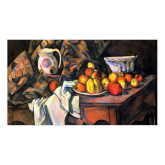 Impressionist still life apple peaches Cezanne art Double-Sided Standard Business Cards (Pack Of 100)