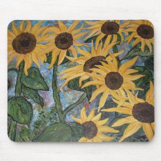 Impressionist Sunflower Mouse Pad