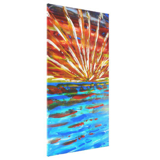 Impressionist sunrise canvas print