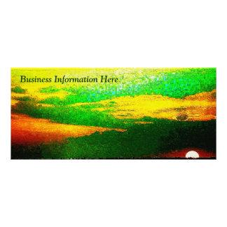 Impressionist Sunset 2012 Calendar Business Rack Personalized Rack Card