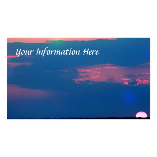 Impressionist Sunset From The Sea Business Cards