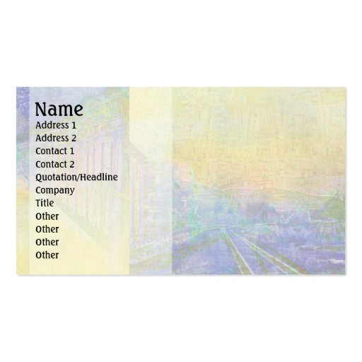 Impressionist Train Tracks Business Card