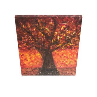 Impressionist Tree Art Oil Painting Canvas Print