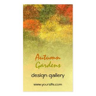 Impressionist Zinnia Garden Business Card Template