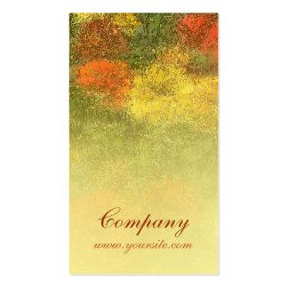 Impressionist Zinnia Garden Pack Of Standard Business Cards