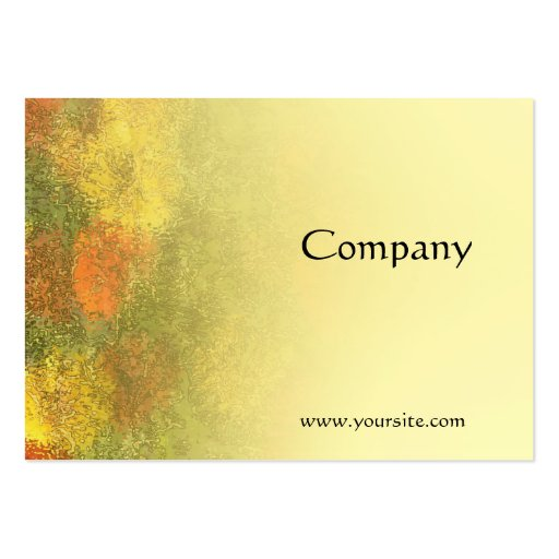 Impressionist Zinnia Garden Business Cards