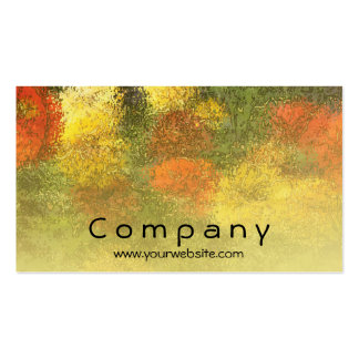 Impressionist Zinnia Garden Double-Sided Standard Business Cards (Pack Of 100)