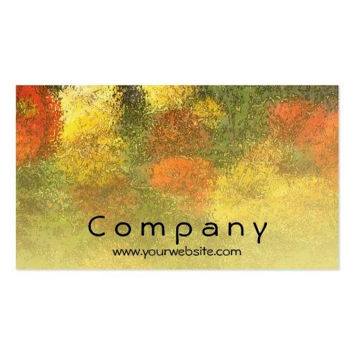 Impressionist Zinnia Garden Business Card Templates