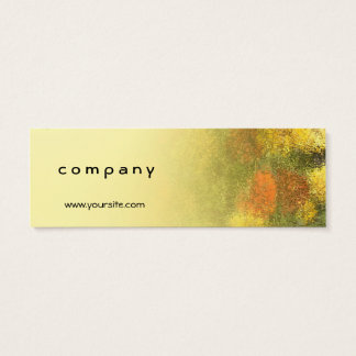 Impressionist Zinnia Garden Mini Business Card