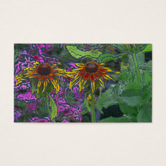 Impressionistic Brown-Eyed Susan Flowers