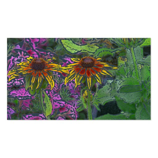 Impressionistic Brown-Eyed Susan Flowers Business Cards
