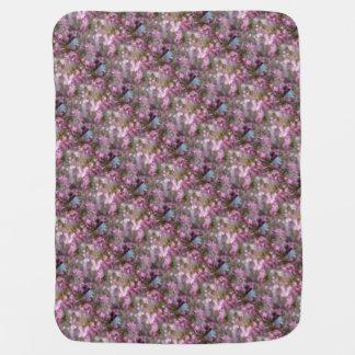 Impressionistic Pink Crabapple Blossom Baby Blanket