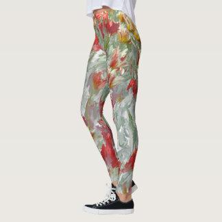 Impressionistic Tulips Leggings