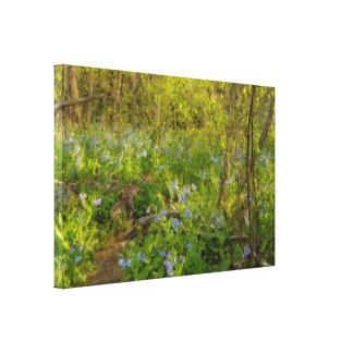 Impressionistic Virginia Bluebells Canvas Print