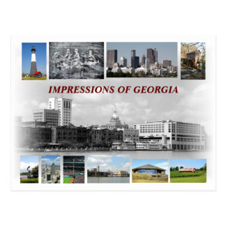 Impressions of Georgia, USA Postcard