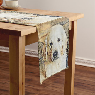 Impressive Animal - Cute Puppy Medium Table Runner