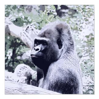 impressive animal-gorilla magnetic card
