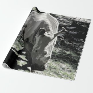 impressive animal- rhino wrapping paper
