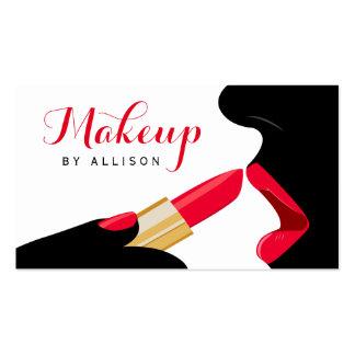 Impressive Makeup Artist Hot Red Lips Lipstick Pack Of Standard Business Cards