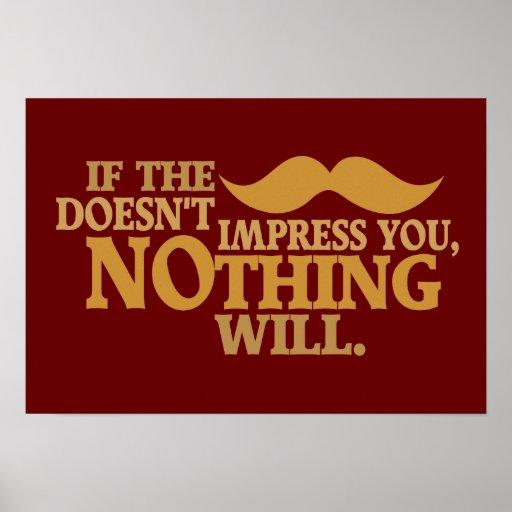 Impressive Moustache custom color poster