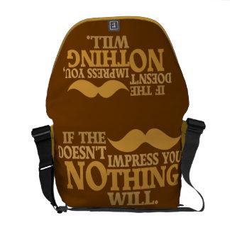 Impressive Moustache custom messenger bag