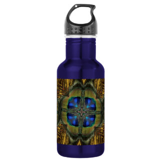 Impressive Peacock Feather Kaleidoscope 532 Ml Water Bottle