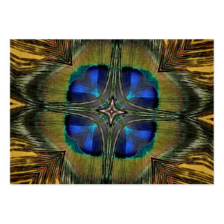Impressive Peacock Feather Kaleidoscope Pack Of Chubby Business Cards