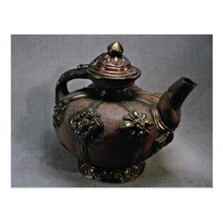 Impressive Tibetan tea pot Postcard