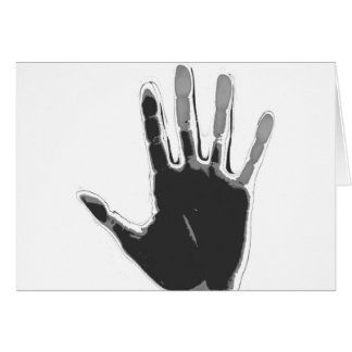 Imprinted black and grey hand! card