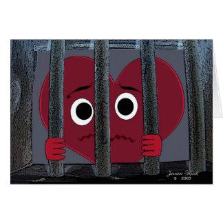 Imprisoned Heart Valentine Card