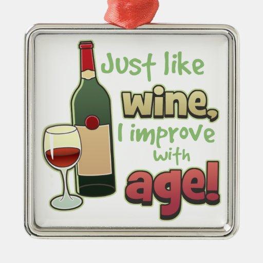 Improve With Age Funny Wine Ornament