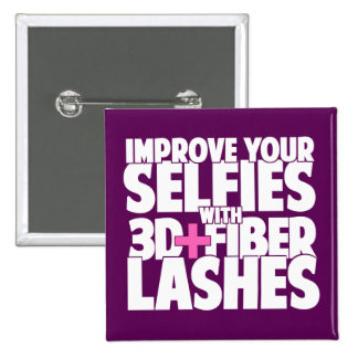 Improve your selfies with 3d + Fiber Lashes 15 Cm Square Badge