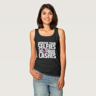 Improve your selfies with 3d + Fiber Lashes Singlet