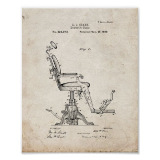 Improvement In Dentist's Chairs Patent - Old Look Poster