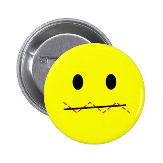 'impulse control ' SMILEY FACE PIN
