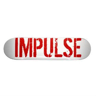 IMPULSE DECK RED CUSTOM SKATEBOARD