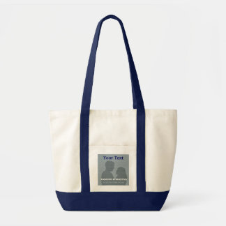 Impulse Navy Tote Your Photo & Text Template Impulse Tote Bag