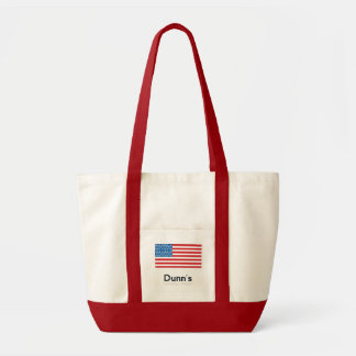Impulse Tote Bag (Natural and Red)