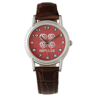 Impulse Women's Classic Brown Leather Watch
