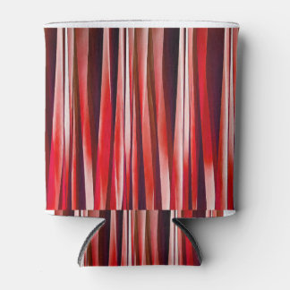 Impulsive Adventure Red Striped Abstract Pattern Can Cooler