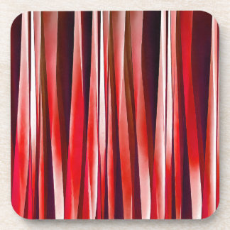 Impulsive Adventure Red Striped Abstract Pattern Coaster