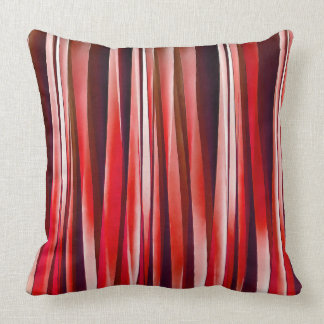 Impulsive Adventure Red Striped Abstract Pattern Cushion