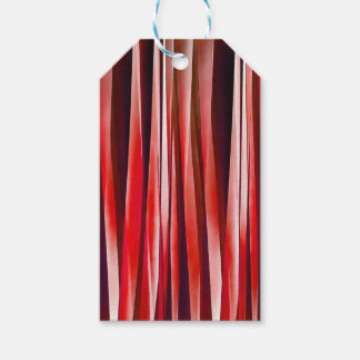 Impulsive Adventure Red Striped Abstract Pattern Gift Tags
