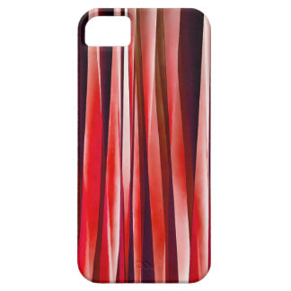 Impulsive Adventure Red Striped Abstract Pattern iPhone 5 Cases