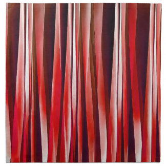 Impulsive Adventure Red Striped Abstract Pattern Napkin