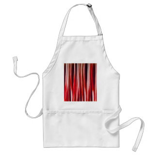 Impulsive Adventure Red Striped Abstract Pattern Standard Apron